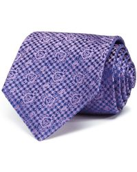 Turnbull & Asser - Houndstooth Rose Classic Tie - Lyst