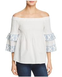 Beach Lunch Lounge - Smocked Off-the-shoulder Top - Lyst