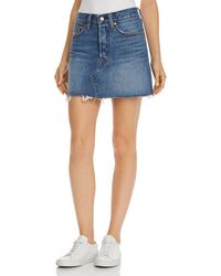 Levi's - Deconstructed Denim Mini Skirt In Middle Man - Lyst