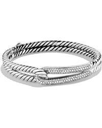 David Yurman | Labyrinth Single-loop Bracelet With Diamonds | Lyst