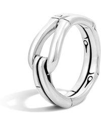 John Hardy - Bamboo Silver Hook Ring - Lyst