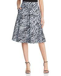 93bc0129a Donna Karan New York Asymmetric Draped Midi Skirt in Blue - Lyst