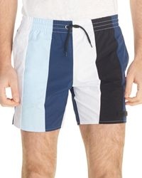 532d76e94 Sandro - Atlantic Striped Drawstring Swim Shorts - Lyst