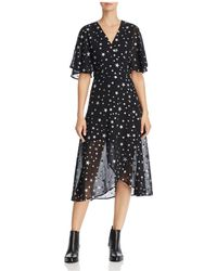 Re:named - Starry Night Wrap Dress - Lyst