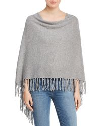 Minnie Rose - Fringed Cashmere Ruana - Lyst