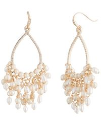 Carolee - Gypsy Cultured Freshwater Pearl Cluster Drop Earrings - Lyst