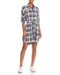 ATM - Plaid Shirt Dress - Lyst