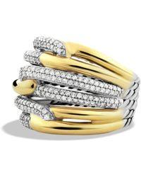 David Yurman - Labyrinth Triple - Loop Ring With Diamonds - Lyst