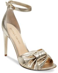 Ivanka Trump - Women's Haddey Metallic Leather High-heel Sandals - Lyst