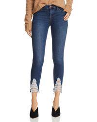 J Brand - 811 Mid Rise Skinny Jeans In Midnight Moon - Lyst