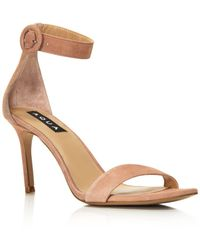 Aqua - Women's Seven Suede High-heel Ankle Strap Sandals - Lyst
