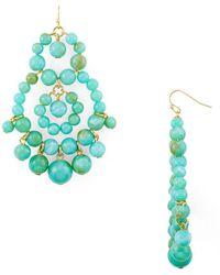 Aqua - Beaded Chandelier Earrings - Lyst