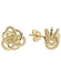 Lagos - 18k Yellow Gold Love Knot Stud Earrings - Lyst