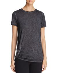 Marc New York - Performance Short-sleeve Ruched Tee - Lyst