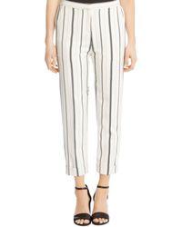 Karen Kane - Cuffed Stripe Straight Trousers - Lyst