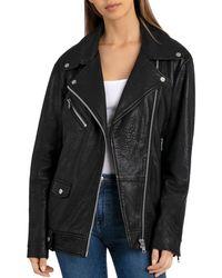 BAGATELLE.NYC - Oversized Leather Moto Jacket - Lyst
