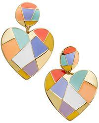 BaubleBar - Erissa Heart Drop Earrings - Lyst