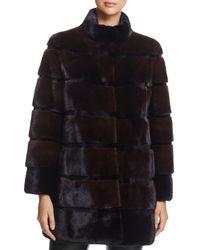 Maximilian - Stand Collar Mink Fur Coat - Lyst