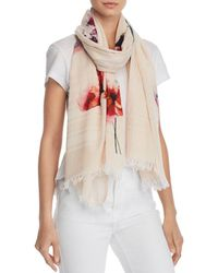 Aqua - Fraas Houndstooth Floral Scarf - Lyst