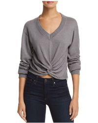 Aqua - Twist-front Sweater - Lyst
