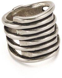 Uno De 50 Tornado Ring - Metallic
