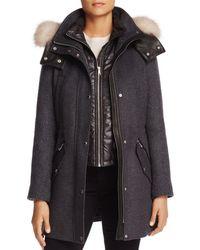 Andrew Marc - Brynn Fox Fur Trim Coat - Lyst