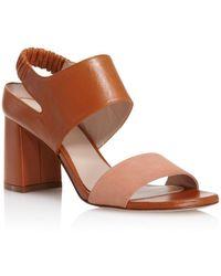 Stuart Weitzman - Women's Erica Suede & Leather Block Heel Sandals - Lyst