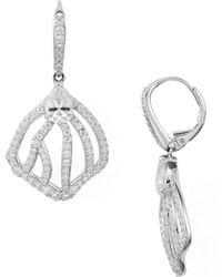 Nadri - Corsage Small Petal Leverback Earrings - Lyst