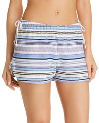 Jane & Bleecker New York - Stripe Pajama Shorts - Lyst