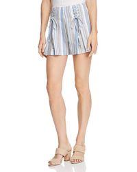 Aqua - Lace-up Striped Shorts - Lyst