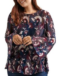 Lucky Brand - Printed Keyhole Top - Lyst