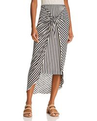 Splendid - X Margherita Tie-front Striped Sarong Skirt - Lyst