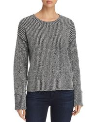 Kenneth Cole - Marled Shaker-stitch Sweater - Lyst