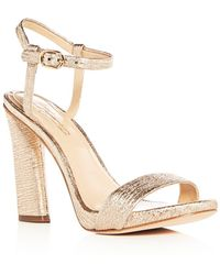 Imagine Vince Camuto - Women's Sune Distressed Metallic High Heel Sandals - Lyst