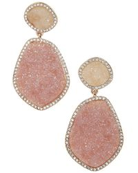 BaubleBar - Vina Druzy Drop Earrings - Lyst