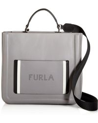 Furla - Reale North South Large Convertible Leather Tote - Lyst