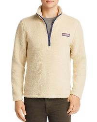 Vineyard Vines - Collegiate Heritage Sherpa Half-zip Pullover Jacket - Lyst