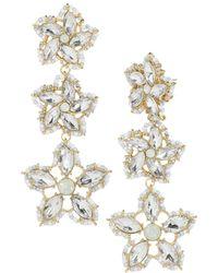 BaubleBar   Ice Flower Drop Earrings   Lyst
