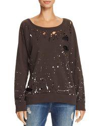 Chaser - Distressed Splatter Print Sweatshirt - Lyst