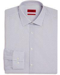 HUGO - Square-dash Slim Fit Dress Shirt - Lyst