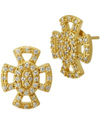 Freida Rothman - Open Pavé Maltese Stud Earrings - Lyst