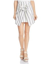 C/meo Collective - Diffuse Striped Tie-front Mini Skirt - Lyst