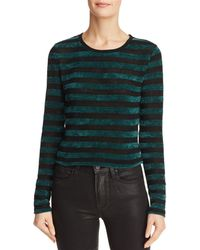 Honey Punch - Striped Chenille Cropped Jumper - Lyst