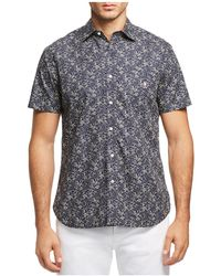 Psycho Bunny | Floral Print Regular Fit Button-down Shirt | Lyst