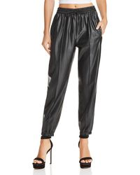 Blank NYC - Faux Leather Jogger Trousers - Lyst