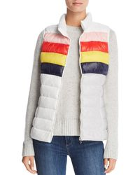 Aqua - Packable Rainbow-stripe Puffer Vest - Lyst