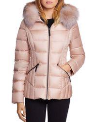 Dawn Levy - Nikki Saga Fur Trim Short Down Coat - Lyst