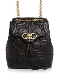 Ferragamo - Medium Quilted Leather Backpack - Lyst