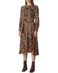 Whistles - Esme Leopard Shirt Dress - Lyst