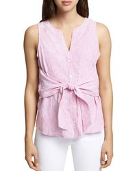 Sanctuary - Cara Tie-front Striped Top - Lyst